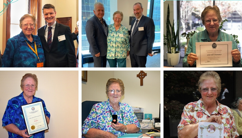 Photos of Sr Mary's distinguished career in prison ministry
