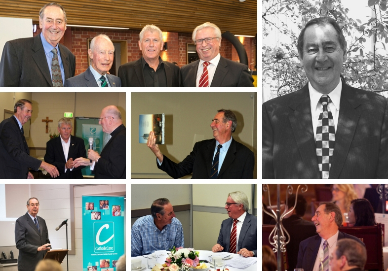 Collage of Frank Swan, former Chair of CatholicCare Board